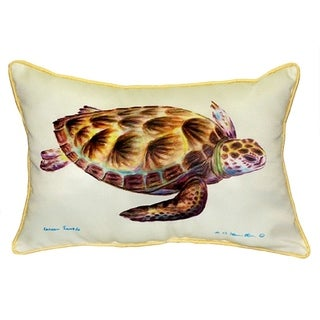 Betsy Drake Green Sea Turtle 16-inch x 20-inch Throw Pillow