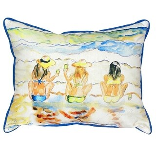 Betsy Drake Interiors Bottoms Up Multicolored Polyester 20x24 Throw Pillow