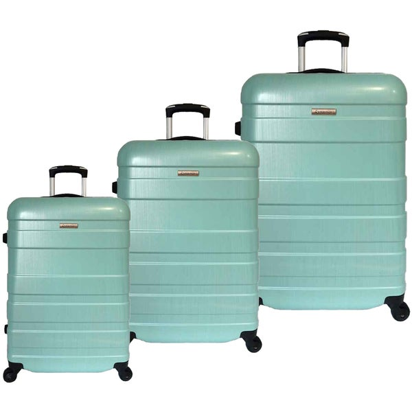 Green McBrine Luggage Eco Friendly 3 Piece Luggage Set