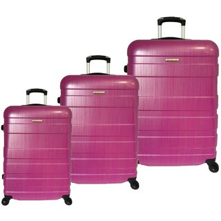 McBrine Eco-Friendly 3-piece Hardsided Spinner Upright Luggage Set