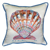 Betsy Drake Interiors Scallop Shell Multicolored Polyester 18-inch x 18-inch Throw Pillow