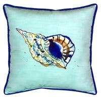 Betsy's Shell Multi-color Polyester Indoor/Outdoor Throw Pillow