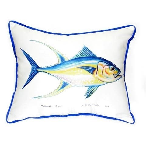 Betsy Drake Tuna Multicolored Polyester 20-inch x 24-inch Throw Pillow