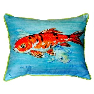 Betsy Drake Koi 18-inch x 18-inch Indoor/Outdoor Throw Pillow