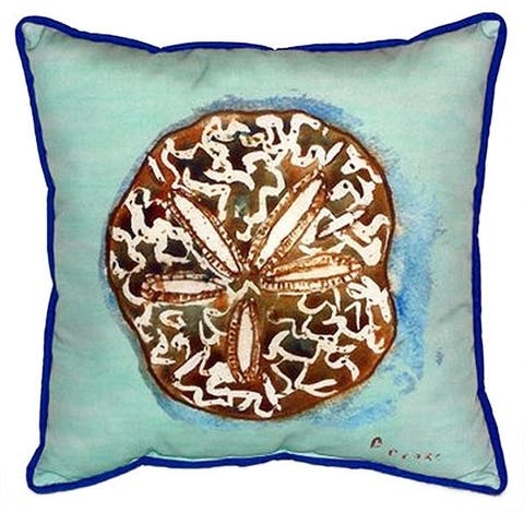 Sand Dollar Teal 22-inch x 22-inch Indoor/Outdoor Throw Pillow