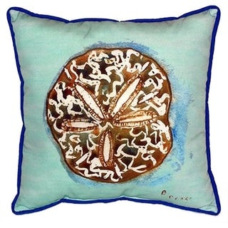 Betsy Drake Sand Dollar Multicolored 18-inch x 18-inch Indoor/Outdoor Throw Pillow