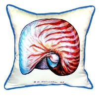Nautilus 18-inch x 18-inch Indoor/Outdoor Throw Pillow