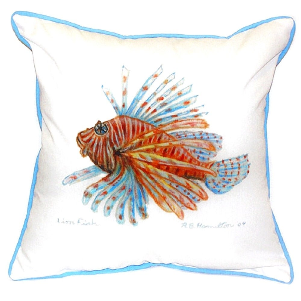 18 Inch X 18 Inch Lion Fish Throw Pillow Overstock 11917265