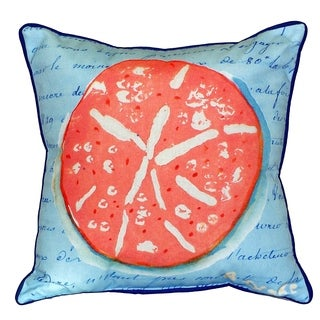 Betsy Drake Coral Sand Dollar 22-inch x 22-inch Throw Pillow