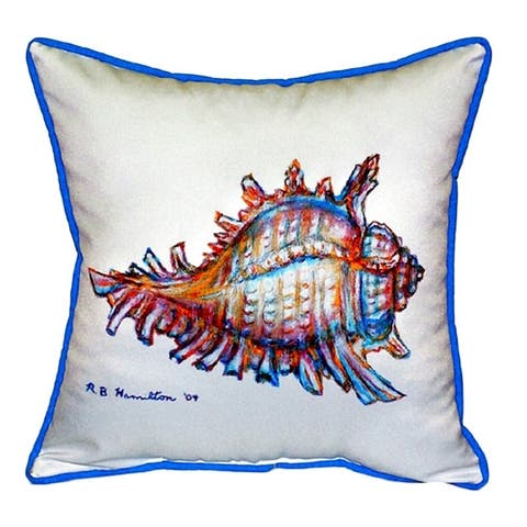 Conch 18-inch x 18-inch Throw Pillow