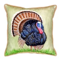 Wild Turkey Indoor/Outdoor 18-inch x 18-inch Throw Pillow
