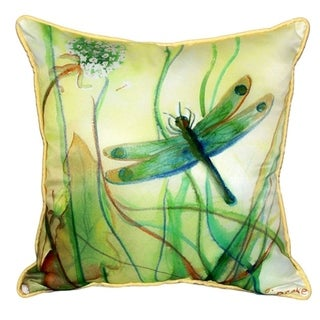 Betsy's Dragonfly 22x22 Throw Pillow