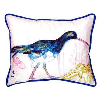 Black Shore Bird 20-inch x 24-inch Polyester Indoor/Outdoor Throw Pillow
