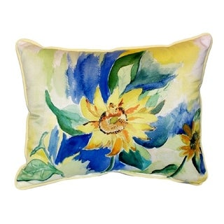 Betsy Drake Sunflower Multicolor Polyester 16-inch x 20-inch Throw Pillow