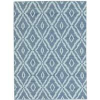 Grey Reversible Kilim Pure Wool Hand Woven Rug - 4'3 x 6'