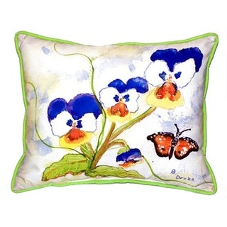 Pansies Multi-color Polyester Indoor/Outdoor Throw Pillow