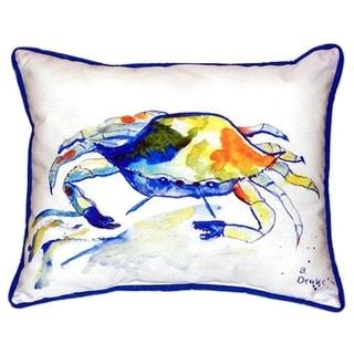 Yellow Crab 20-inch x 24-inch Indoor/Outdoor Throw Pillow