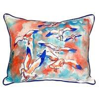 20-inch x 24-inch Gulls Flocking Indoor/Outdoor Throw Pillow