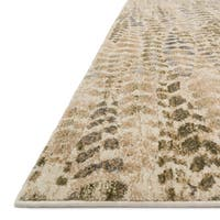 Phaedra Abstract Sage/ Beige Rug - 3'11 x 5'10