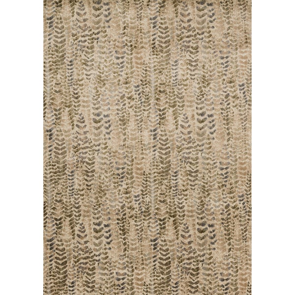 Phaedra Abstract Sage/ Beige Rug (3'11 x 5'9)