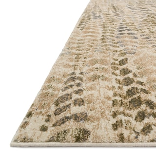 "Alexander Home Phaedra Leaf Abstract Sage/Beige Mid-century Rug - 1'11"" x 3'"