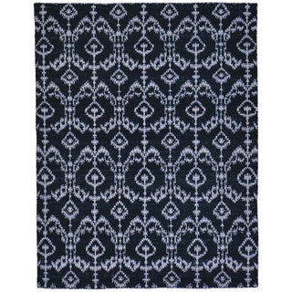 Black Flat Weave Reversible Kilim Pure Wool Hand Woven Rug (5'2 x 6'7)