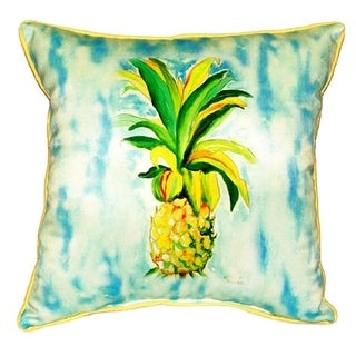 Betsy Drake Pineapple Multicolor Polyester 22-inch x 22-inch Indoor/Outdoor Throw Pillow