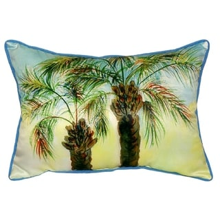 Betsy Drake Palms Multicolor Polyester 20-inch x 24-inch Indoor/Outdoor Throw Pillow