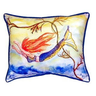 Diving Mermaid Polyester 20-inch x 24-inch Indoor/Outdoor Throw Pillow