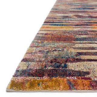 Phaedra Abstract Raspberry/ Multi Rug (6'7 x 9'2)