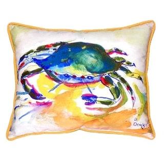 Green Crab 20-inch x 24-inch Indoor/Outdoor Throw Pillow