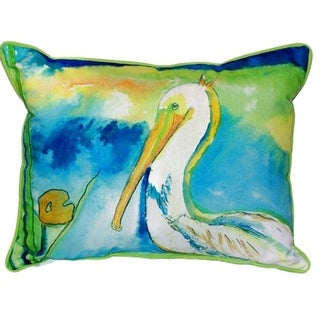 White Pelican Multi-color Polyester 16-inch x 20-inch Indoor/Outdoor Throw Pillow