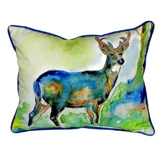 Betsy Drake Deer Multicolor Polyester 20-inch x 24-inch Indoor/Outdoor Throw Pillow