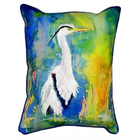 D&B's Blue Heron 20-inch x 24-inch Indoor/Outdoor Throw Pillow