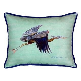 Flying Blue Heron Indoor/Outdoor 20-inch x 24-inch Throw Pillow