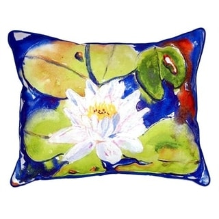 Lily Pad Flower Indoor/Outdoor 20-inch x 24-inch Polyester Throw Pillow