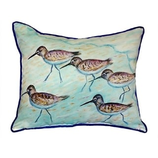 Betsy Drake Sandpipers Multicolored Polyester 16-inch x 20-inch Throw Pillow