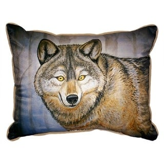 Betsy Drake Grey Wolf Multicolored Polyester 20-inch x 24-inch Throw Pillow
