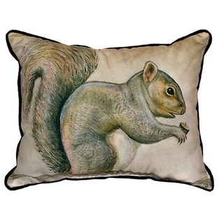 Betsy Drake Squirrel Throw Pillow