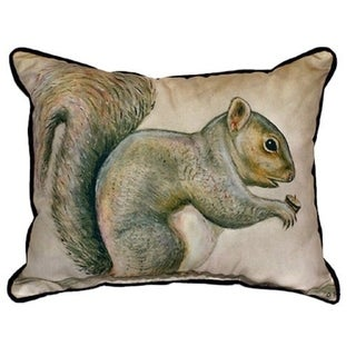 Betsy Drake Squirrel 16-inch x 20-inch Throw Pillow