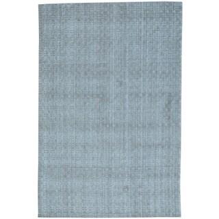 Wool and Bamboo Silk Tone on Tone Hand Loomed Rug (6' x 9'1)