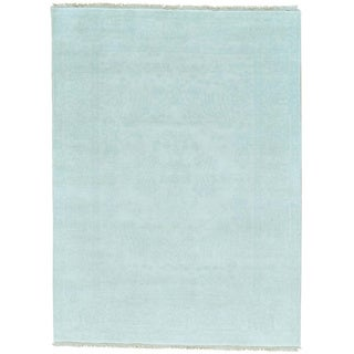 Ivory Tone on Tone Heriz Pure Wool Hand Knotted Oriental Rug (5'1 x 6'10)