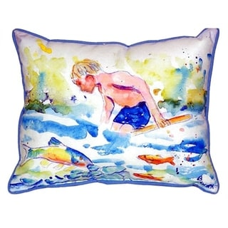 18-inch x 24-inch Boy and Fish Indoor/Outdoor Throw Pillow
