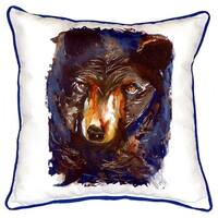 Betsy's Bear Indoor/Outdoor 18-inch x 18-inch Throw Pillow