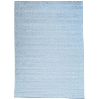 Grey Hand Loomed Wool and Viscose from Bamboo Silk Tone on Tone Oriental Rug (10' x 14')