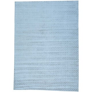 Tone on Tone Wool and Viscose from Bamboo Silk Hand Loomed Oriental Rug (10' x 14')