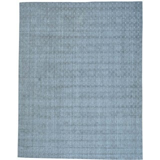 Wool and Bamboo Silk Tone on Tone Hand Loomed Oriental Rug (8' x 10')