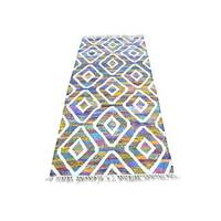 Multicolor Colorful Flat Weave Kilim Runner Hand Woven Oriental Rug