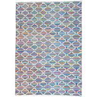 Multicolor Flat Weave Kilim Geometric Design Hand Woven Oriental Rug - 10' x 13'10