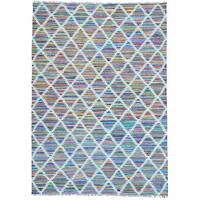 Multicolor Flat Weave Colorful Kilim Geometric Design Hand Woven Rug (10' x 14')